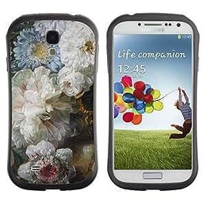 "Pulsar iFace Series Tpu silicona Carcasa Funda Case para SAMSUNG Galaxy S4 IV / i9500 / i9515 / i9505G / SGH-i337 , Flores Azul Blanco Día de la Madre"""