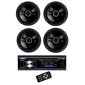 "4) New Kicker 40CS654 6.5"" 300W Coaxial Car Speakers + Boss 506UA MP3 CD Player"