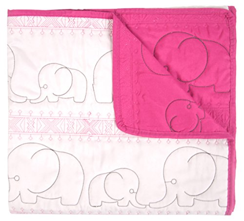 Tadpoles Quilted Baby Blanket, Pink, Small by Tadpoles
