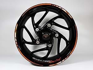 Pegatinas para llantas 710028, narjanas/negras, diseño para moto o coche: Amazon.es: Coche y moto