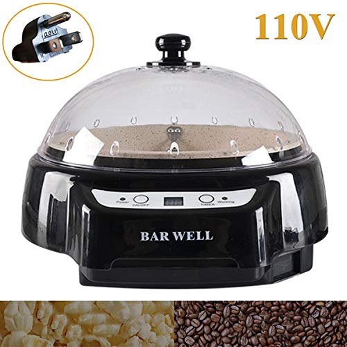 Coffee Roaster Machine Electric Various beans Roasting for Home Use Household Cafe Shop Use 110V (110V, Black)