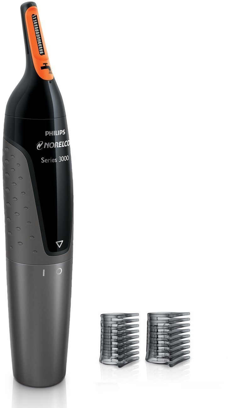Philips Norelco Nose trimmer Series 3300, nose and eyebrows, 2 eyebrow combs, NT3355/49