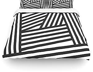 Kess Inhouse Louise Machado Quot Black Stripes Quot Twin Cotton