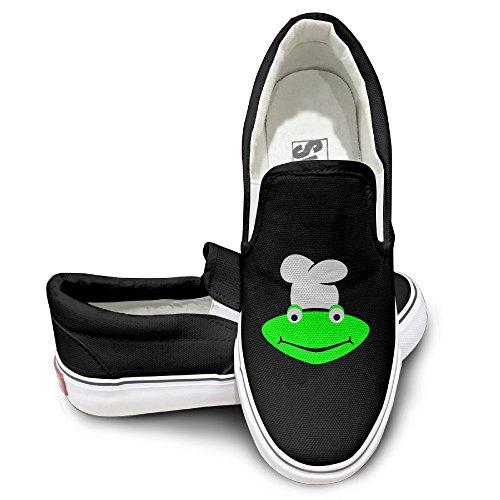 ALIPAPA Custom Men's & Women's Geek Cartoon Poster Fashion Shoes Black Size 35 (2)