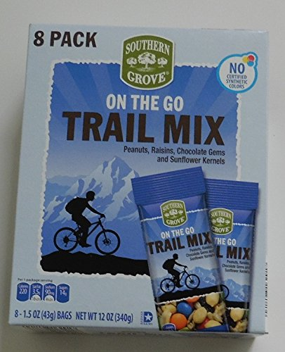 - On the Go Trail Mix of Chocolate Gems, Peanuts, Raisins and Sunflower Kernels 2 Packs Each with 8 bags (Total 16 )