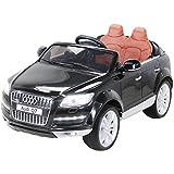 Kinder Elektro Auto Lizenzierter Audi Q7 Lizenziert 2 x 45 Watt Motor Original Kinderelektroauto Kinderfahrzeug (schwarz)
