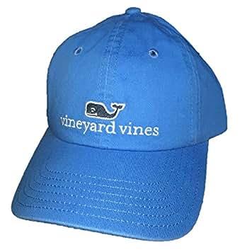 Vineyard Vines Whale Logo Baseball Hat - White Cap OS (Breaker Blue ... 463da1cdf62