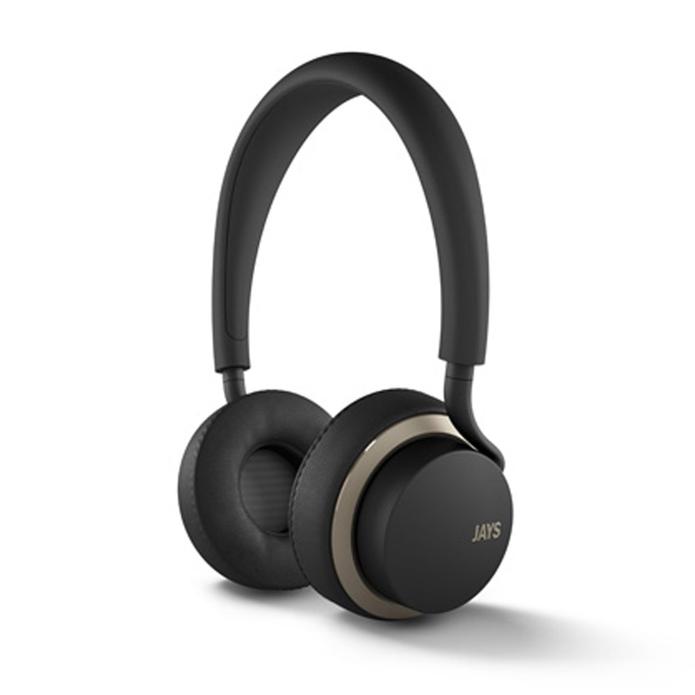 JAYS u-JAYS On-ear Android Headphones - Black/Gold