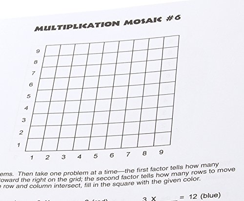 Math Worksheets 3rd grade free math worksheets : MindWare - Multiplication Mosaics: Evelyn B. Christensen ...