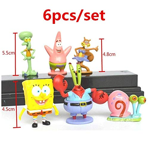SeedWorld Decorations - Aquarium Ornament Animation Kawaii Spongebob Patrick Star Action Figure Cartoon Sponge Bob Mini Figure Aquarium Decoration 1 -