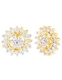 Efulgenz Indian Bollywood Designer Gold Plated Traditional Stud Earrings Jewelry for Women and Girls