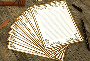 IMagicoo 64 Vintage Retro Cute Design Writing Stationery Paper Pad Letter  Set (White)  Design Paper For Writing