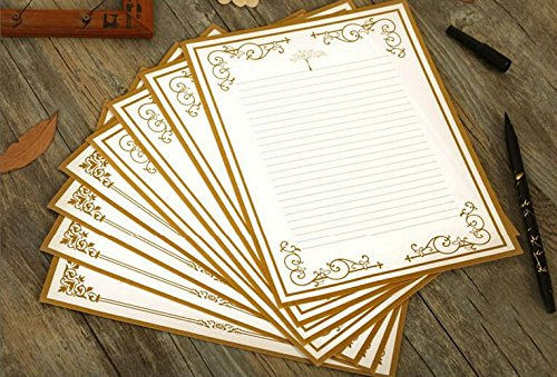 - IMagicoo 64 Vintage Retro Cute Design Writing Stationery Paper Pad Letter Set (White)
