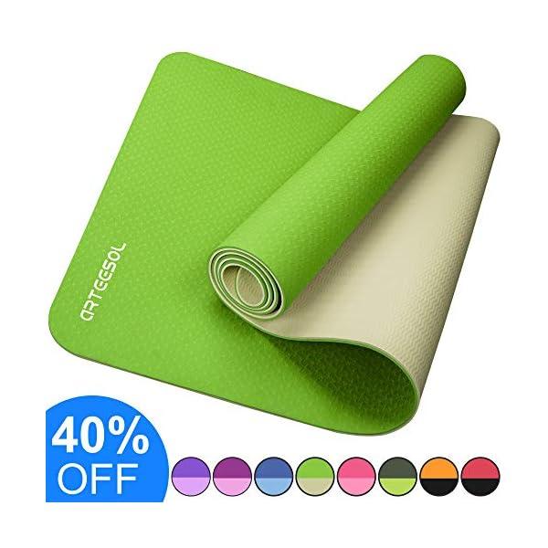 arteesol Yoga mat, Fitness Exercise mat Thick & Non Slip Eco-Friendly High Density...