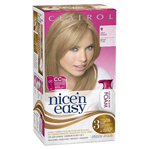 Clairol Nice 'n Easy Foam Hair Color 9 Light Blonde 2 Kit Bundle! by Nice 'N Easy Foam