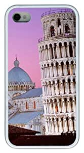 iphone 4 sparkly case Landscapes Tower Pisa TPU White for Apple iPhone 4/4S