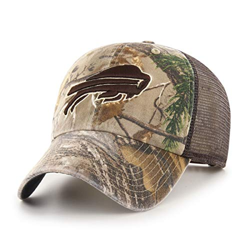 OTS NFL Buffalo Bills Male Ledgewood Challenger Adjustable Hat, Realtree, One ()