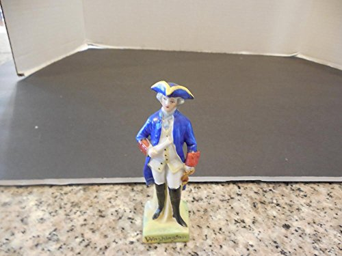 2 Porcelain Figurines 18th Century Men Washington Gentleman Germany