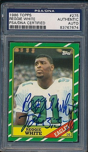 - 1986 Topps #275 Reggie White - PSA/DNA Authentic Autograph - Signed NFL Memorabilia