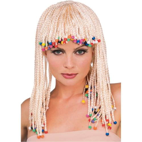 Wig Jamaican (Rubie's Blond Caribbean Cornrows Wig, Yellow, One Size)