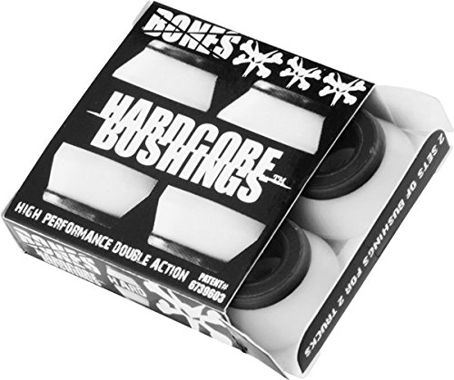 Bones Hardcore 4pc Hard White/Black Bushings -