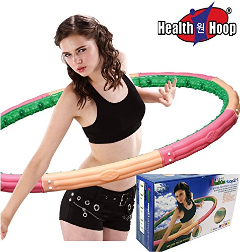 Health Hoop-MAGNETIC Weighted Hula Hoop Massage 6.84lb 3.1kg Exercise,fitness Advance for Expert