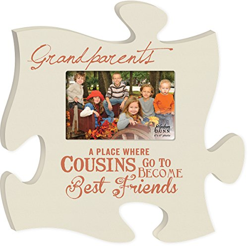 P. Graham Dunn Cousins Best Friends 4x6 Photo Frame Inspirational Puzzle Piece Wall Art Plaque (I Love My Cousin Picture Frame)