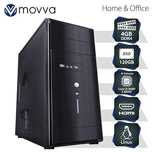 COMPUTADOR CARBON INTEL I5 8400 2.8GHZ 8ª GER. MEM. 4GB SSD 120GB HDMI/VGA FONTE 350W - LINUX - MVCBI5H310S1204 - MOVVA