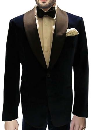 Inmonarch Mens Slim Fit Casual Black Velvet Coat Party Wear Vb08 At