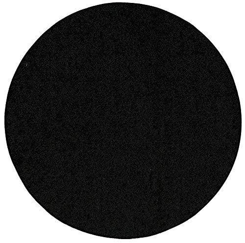 Bright House Solid Area Rug, 3' L x 3' W Round, Black ()
