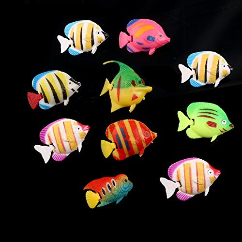 ROSENICE realistic artificial floating fish floating fish aquarium decorative plastic 10 pieces