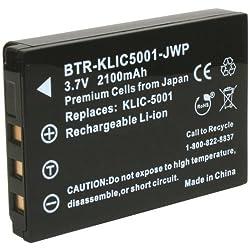 Kinamax Btr-klic5001-jwp 2100mah Klic-5001 Replacement Battery For Kodak Easyshare - Premium Japanese Cells