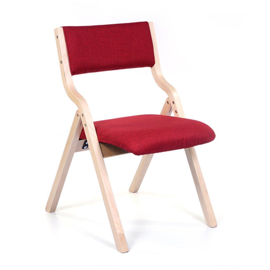 大人のための木製折り畳み式リビングルームチェア、ベッドルームオフィス屋内寝室レストランリムーバブルシートカバー付きの布張りのスツールスツール (色 : 赤, サイズ さいず : Set of 2) B07F1G9H4N Set of 2|赤 赤 Set of 2