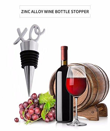 en Rocita Conservateur Forme Design de Lettre Zinc de de en étanchéité Alliage vins Bouteille Bouchon fCUqCxw5n