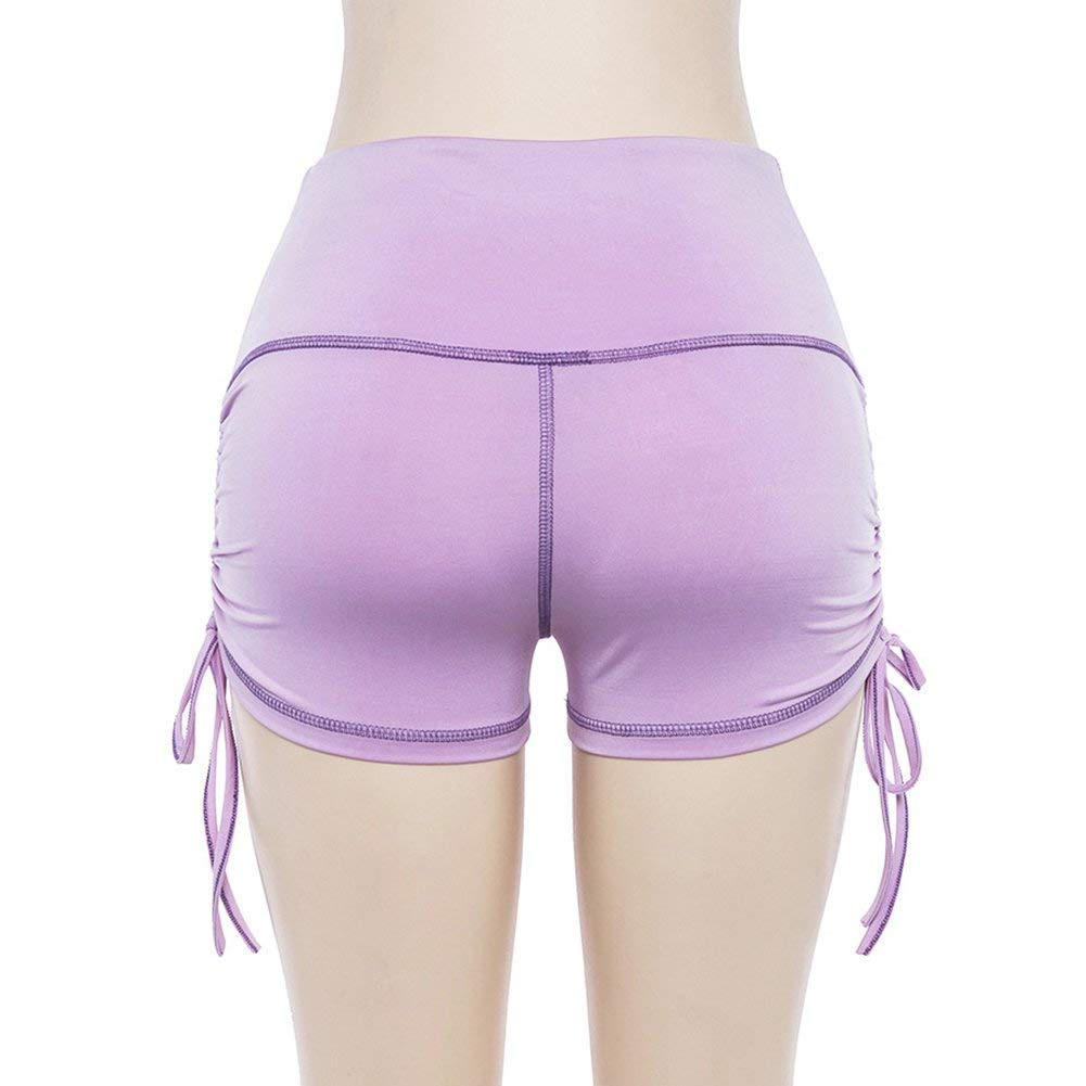 Screenes Damen Kurze Hose Hohe Taille Farbe Kordelzug Stilvolle Kurze Reine Unikat Hose Fitness Unifarben Joggen Yoga Sport Boxershort