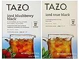 Image of Tazo Iced Tea Pitcher Bag Black Teas 2 Flavor Variety Bundle; (1) Tazo Iced Blushberry Black Tea, and (1) Tazo Iced Black Tea, 3.91-4 Oz. Ea.