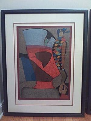 Mihail Chemiakin mint original lithograph, framed