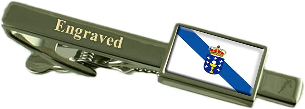 Select Gifts Galicia Flag Engraved Personalised Tie Clip