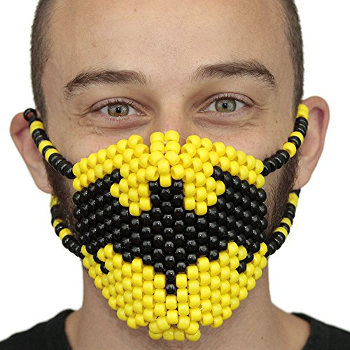 Kandi Gear Batman Mask Surgical Kandi Mask by Perfect for Batman Costumes by Kandi Gear