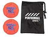 SWAX LAX Balls (2-Pack) Pro Grip Soft Weighted Lacrosse Training Balls Pro Grip Orange Swax Lacrosse Ball Bundle with 1 Performall Sports Bag