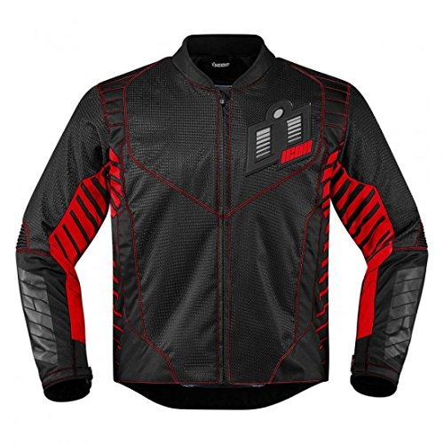 Icon Wireform Textile Jacket Red 2XL 2820-3607