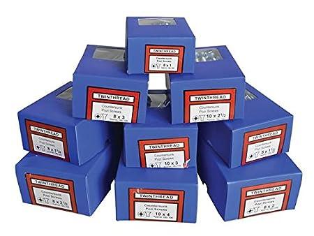 Forgefix General Purpose Pozi Screw CSK TT ZP 2 x 8 Box 200