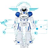 Remote Control RC Robots Toys Think Wing Interactive Funny machine with LED Eyes, Speaking, Singing, Dancing, Walking, Sliding, A Good Beginner Programmable Robot for Young Children (Blue)
