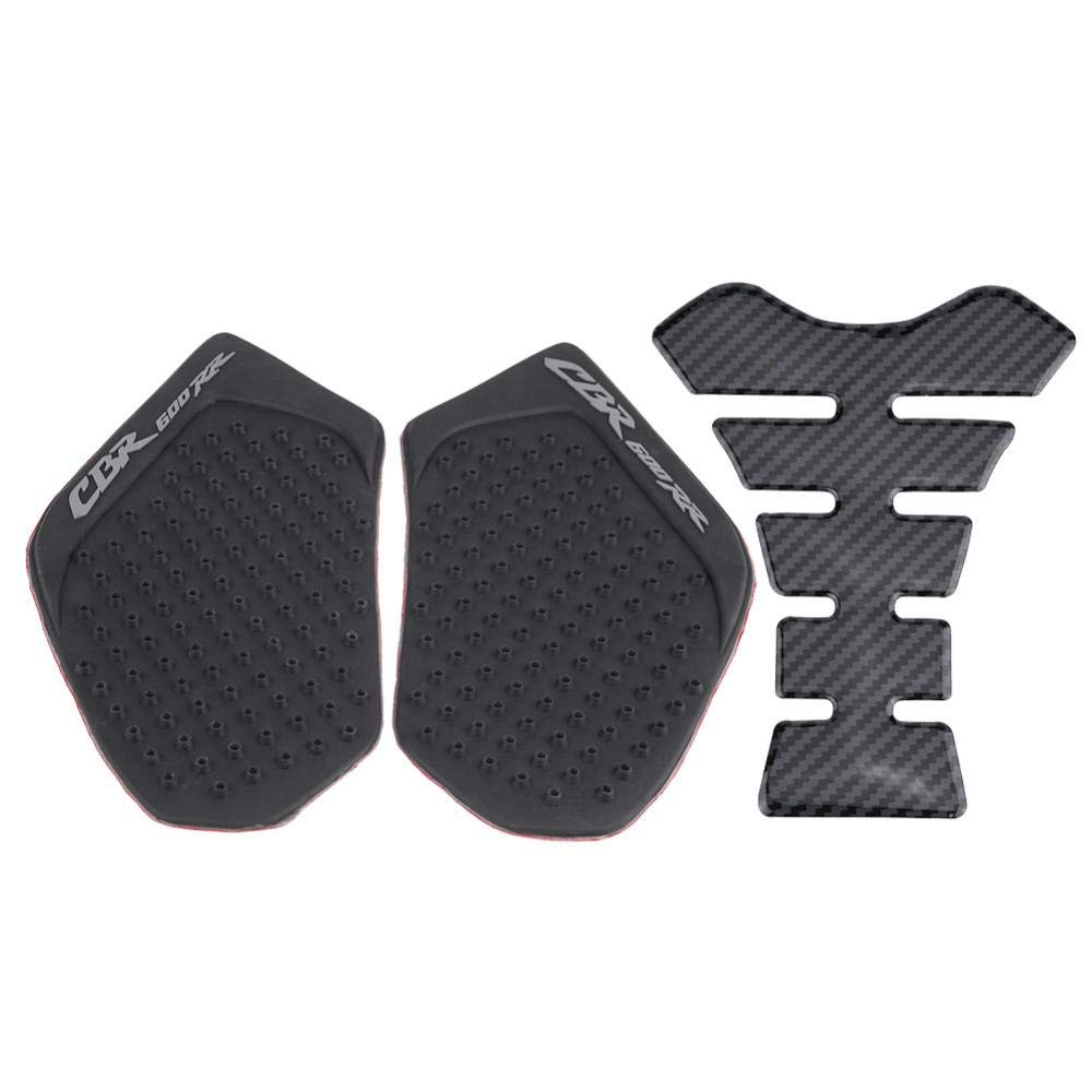 #1 Acouto Motorcycle Gas Tank Side Fuel Grip Pad Sticker and Fishbone Decal Protector for CBR600RR