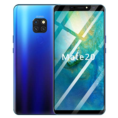 (Full Screen Unlocked Smartphone | 6.1 inch Android 8.1 Ultrathin 4 HD Camera Cell Phones | GSM 4G LTE WiFi Mobile Phone 1G RAM, 16GB ROM, 8-Core Processor Cellphone Telephones 2 SIM (Blue))