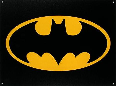 Amazoncom Batman Logo Tin Sign 16x12 Home Kitchen