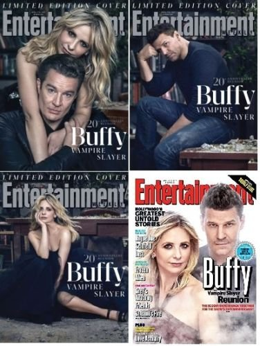 Entertainment Weekly Magazine (April 7/14, 2017) All 4 Covers of Buffy The Vampire Slayer Reunion Issue