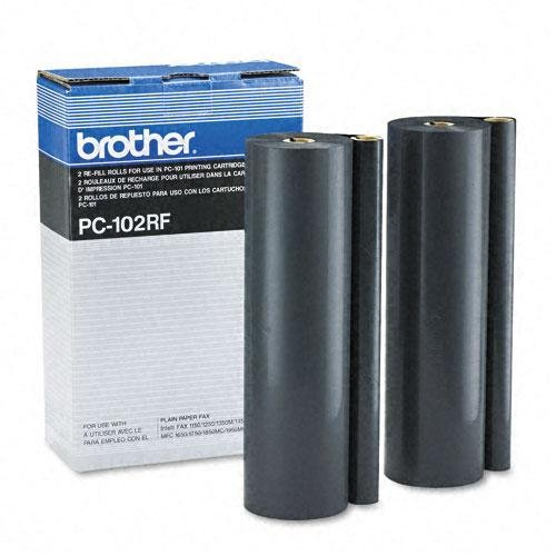 Original Brother PC102RF 750 Yield Ribbons for PC101 (2 Rolls) - ()