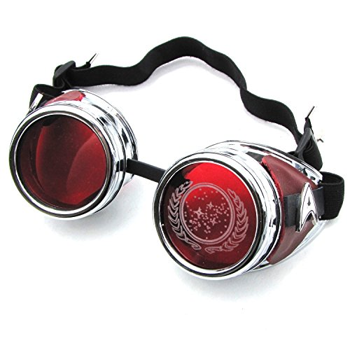 [Star Trek Steampunk Goggles Halloween Costume Cosplay] (Borg Halloween Costumes)