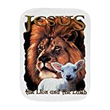 Royal Lion Baby Burp Cloth Jesus The Lion And The Lamb